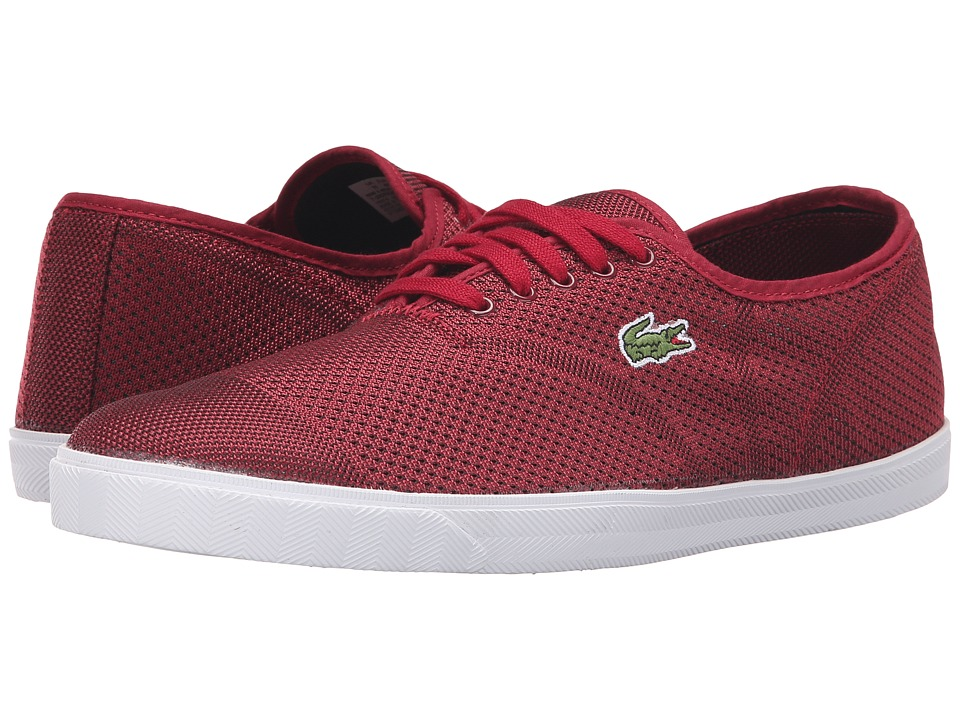 Lacoste - Rene II Mesh PIQ (Dark Red/Dark Red) Men's Shoes