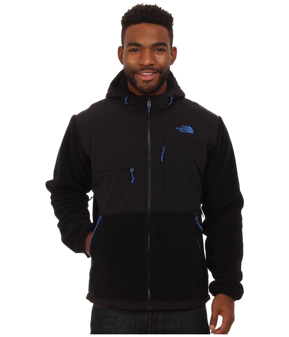The North Face - Denali Hoodie (Recycled TNF Black/Monster Blue) Men's Coat