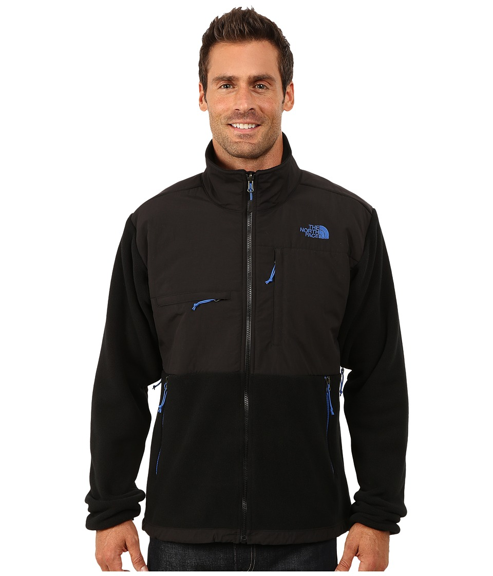 The North Face - Denali Jacket (Recycled TNF Black/Monster Blue) Men's Coat
