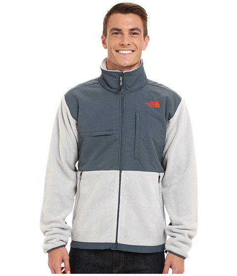 The North Face - Denali Jacket (Recycled High Rise Grey/Conquer Blue) Men's Coat