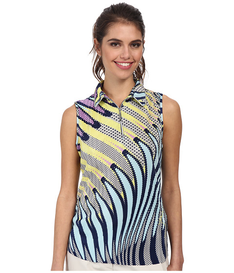 Jamie Sadock - Kaleidoscope Sleeveless Top (Nocturnal Navy Blue) Women's Sleeveless