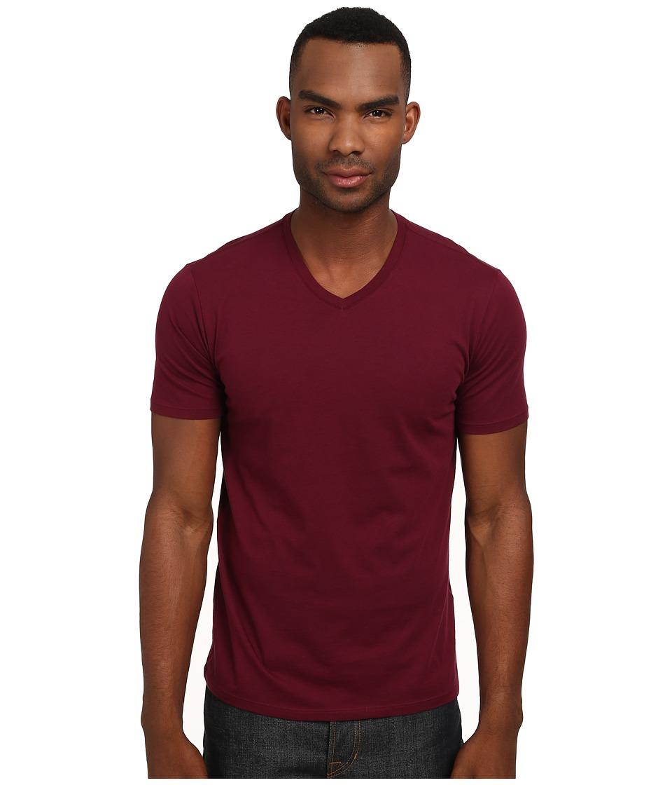 Vince - S/S V-Neck T-Shirt (Port) Men's Short Sleeve Pullover