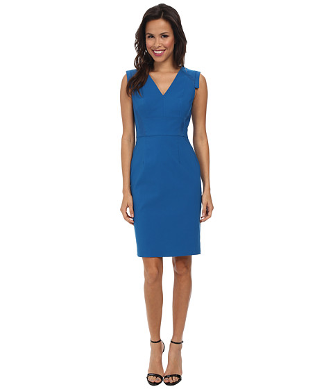 Adrianna Papell - Netting Insert Sheath Dress (Surf Spray) Women