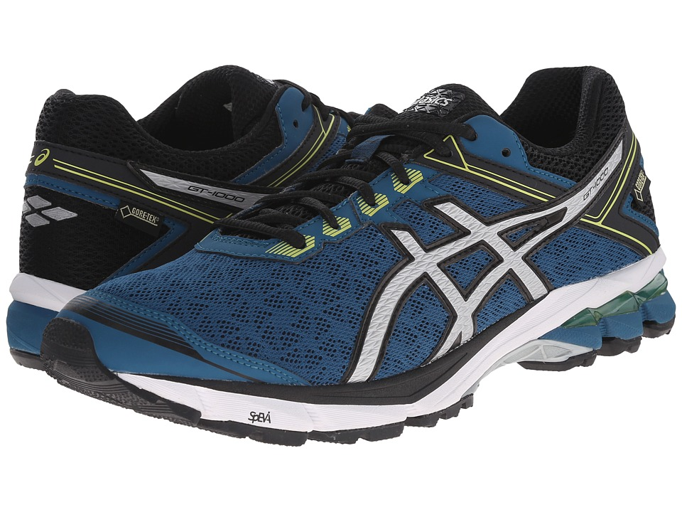 ASICS - GT-1000 4 GTX (Mosaic Blue/Silver/Lime) Men's Running Shoes