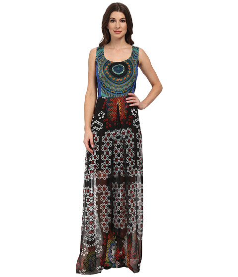 Desigual - Sident Woven Sleeveless Dress (Navy) Women's Dress