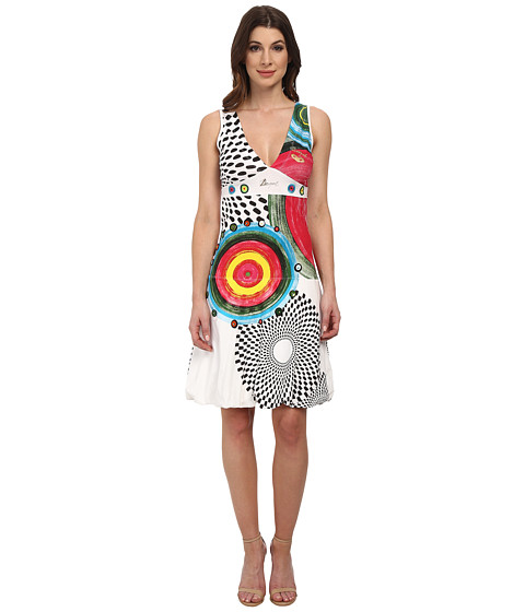 Desigual - Love Knitted Dress with Straps (White) Women's Dress