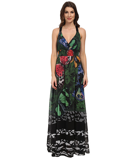 Desigual - Macarena Woven Dress with Straps (Black) Women