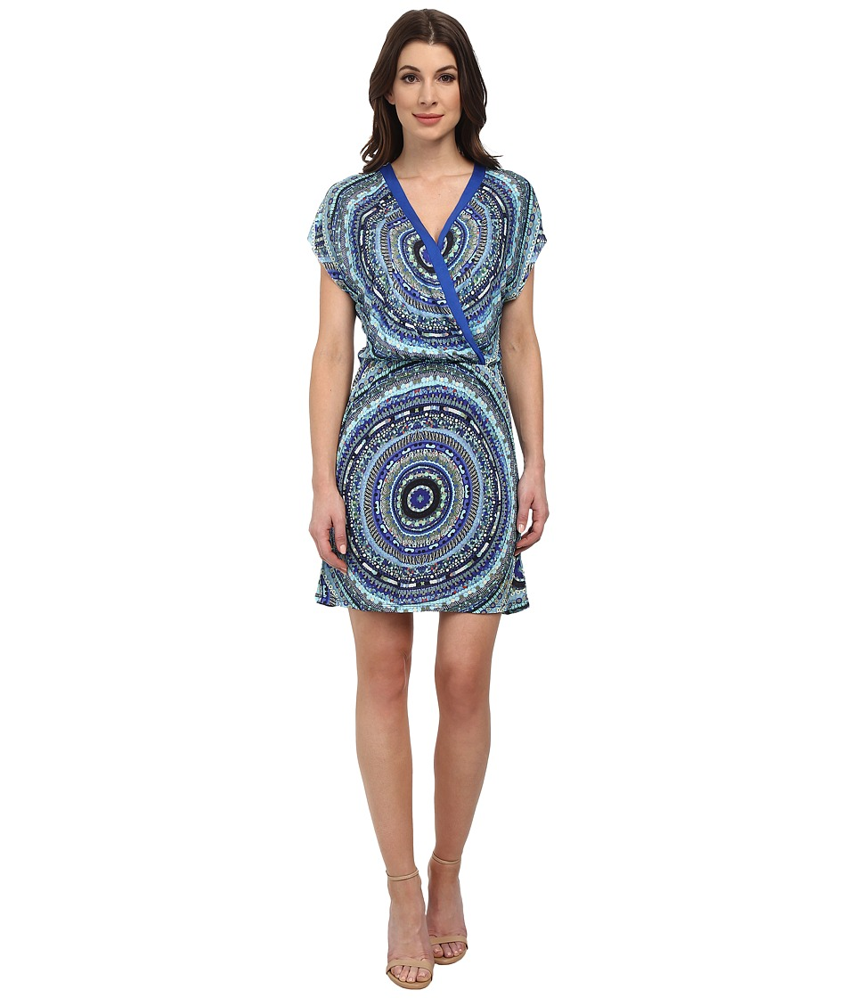 Desigual - Union Knitted Short Sleeve Dress (Navy) Women