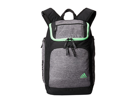 adidas - Energy II Backpack (Heather Grey/Flash Green) Backpack Bags
