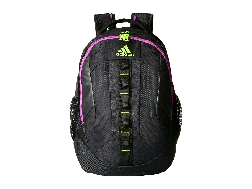adidas - Prime Backpack (Black/Flash Pink/Solar Yellow) Backpack Bags