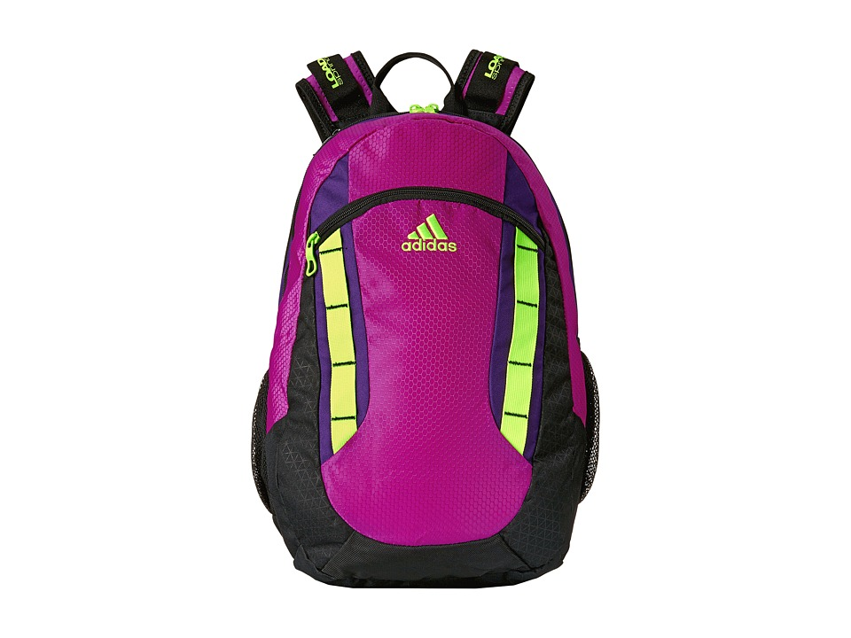 adidas - Excel Backpack (Flash Pink/Rich Purple/Solar Yellow) Backpack Bags