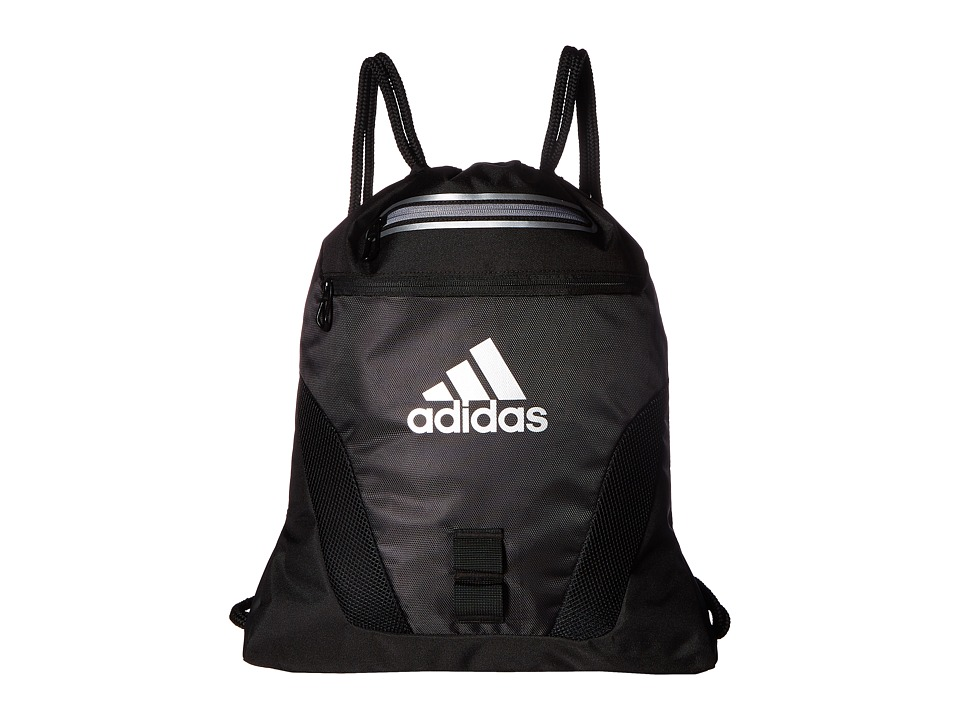 adidas - Rumble Sackpack (Black/Grey/Silver) Bags
