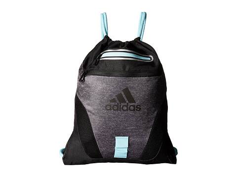 adidas - Rumble Sackpack (Heather Grey/Frozen Blue) Bags