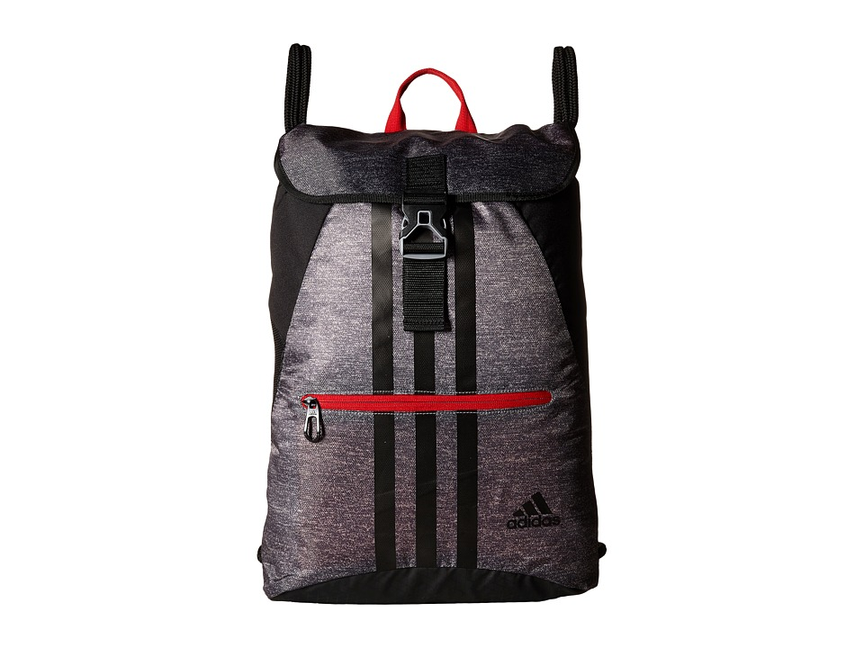 adidas - Ultimate Core II Sackpack (Heather Grey/Scarlet) Bags