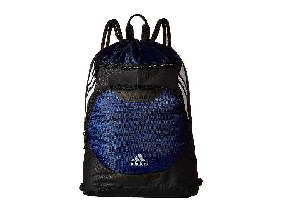 adidas - Ultimate Menace II Sackpack (Heather Bold Blue/White) Bags