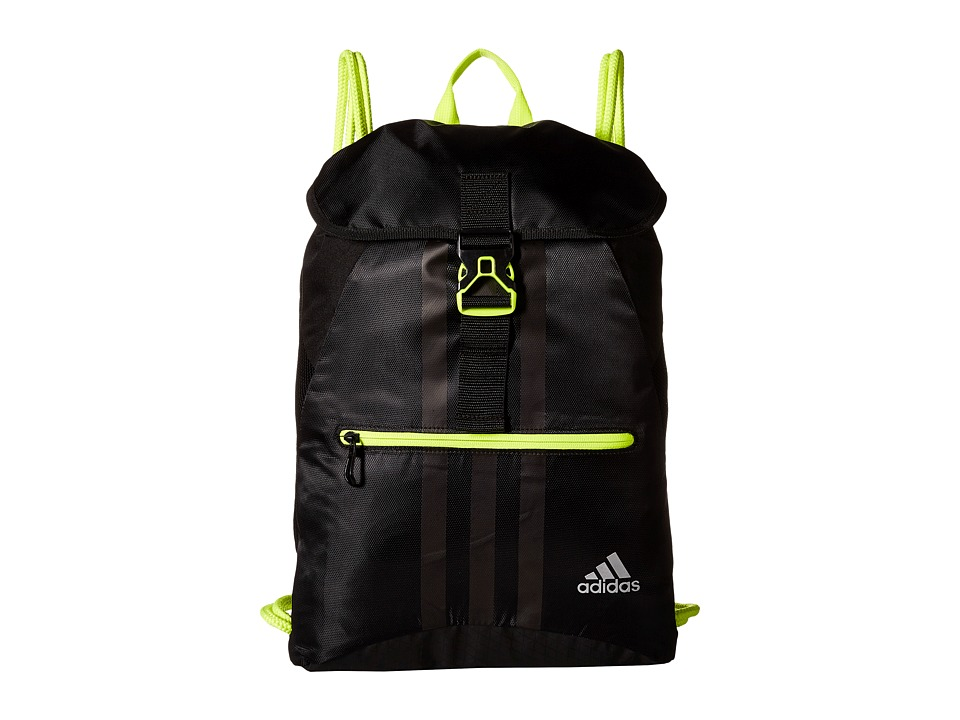 adidas - Ultimate Core II Sackpack (Black/Solar Yellow) Bags