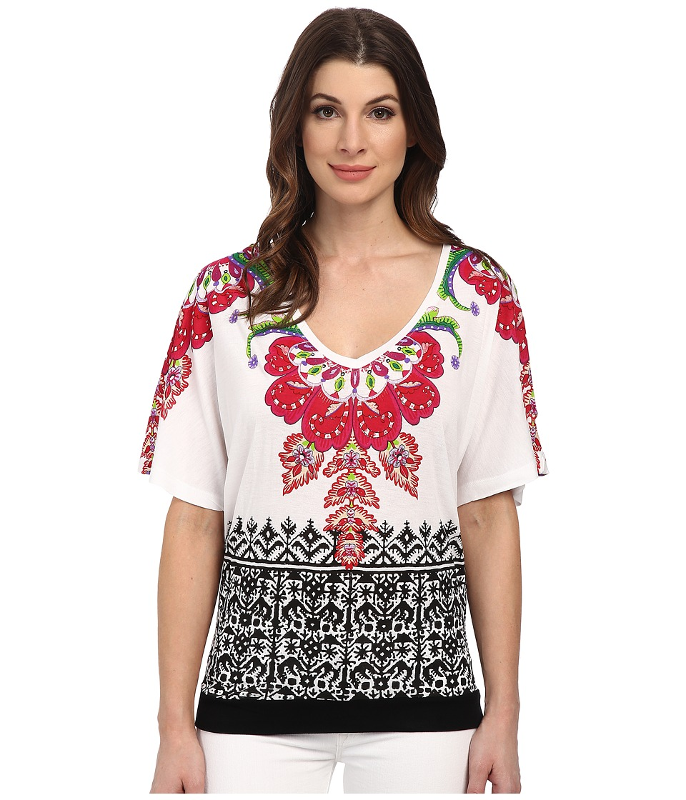 Desigual - Bali Knitted Short Sleeve T-Shirt (White) Women's T Shirt