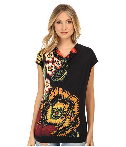 Desigual - Nera Knitted Short Sleeve T-Shirt (Black) Women's T Shirt