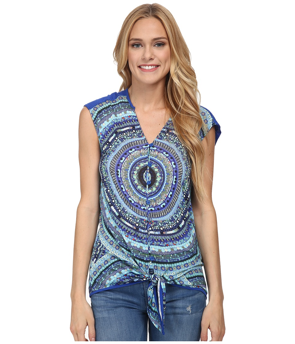 Desigual - Extil Knitted Short Sleeve T-Shirt (Navy) Women's T Shirt