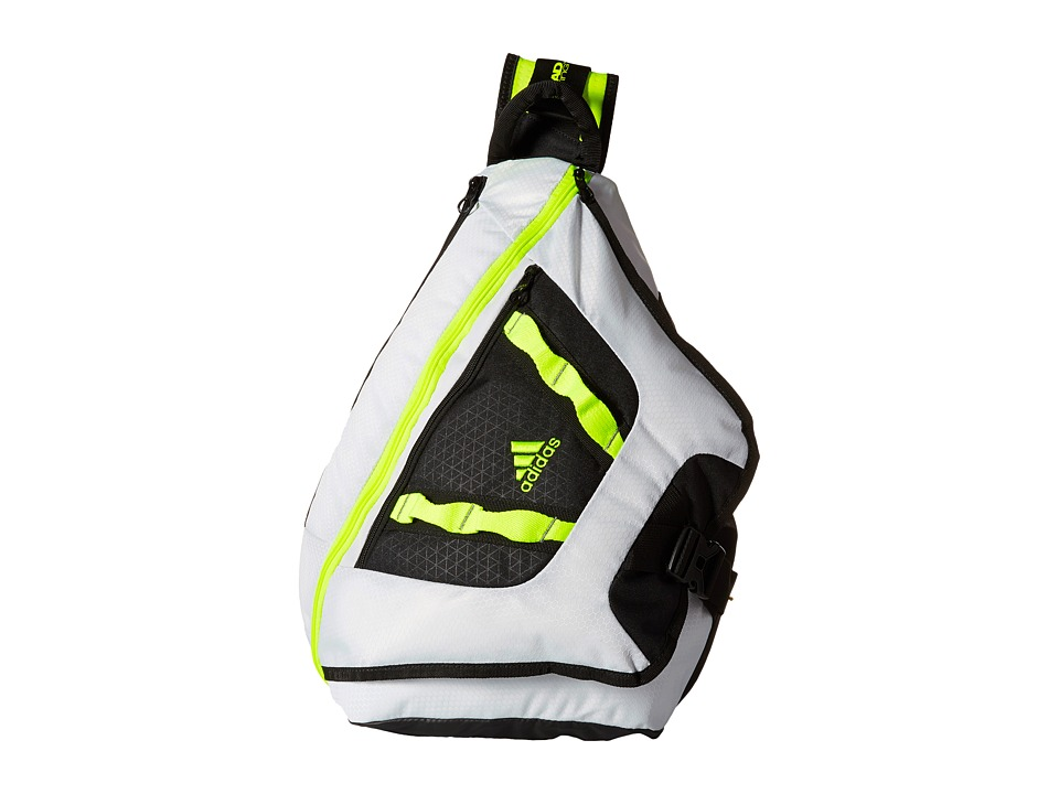 adidas - Capital Sling (Neo White/Solar Yellow) Sling Handbags