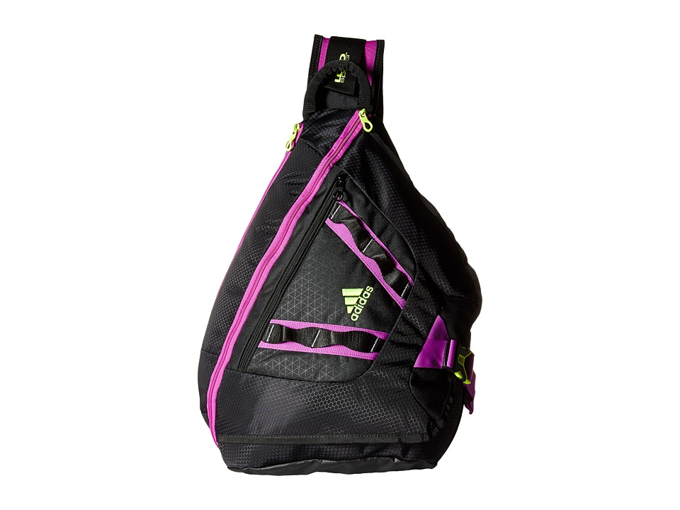 adidas - Capital Sling (Black/Solar Yellow/Flash Pink) Sling Handbags