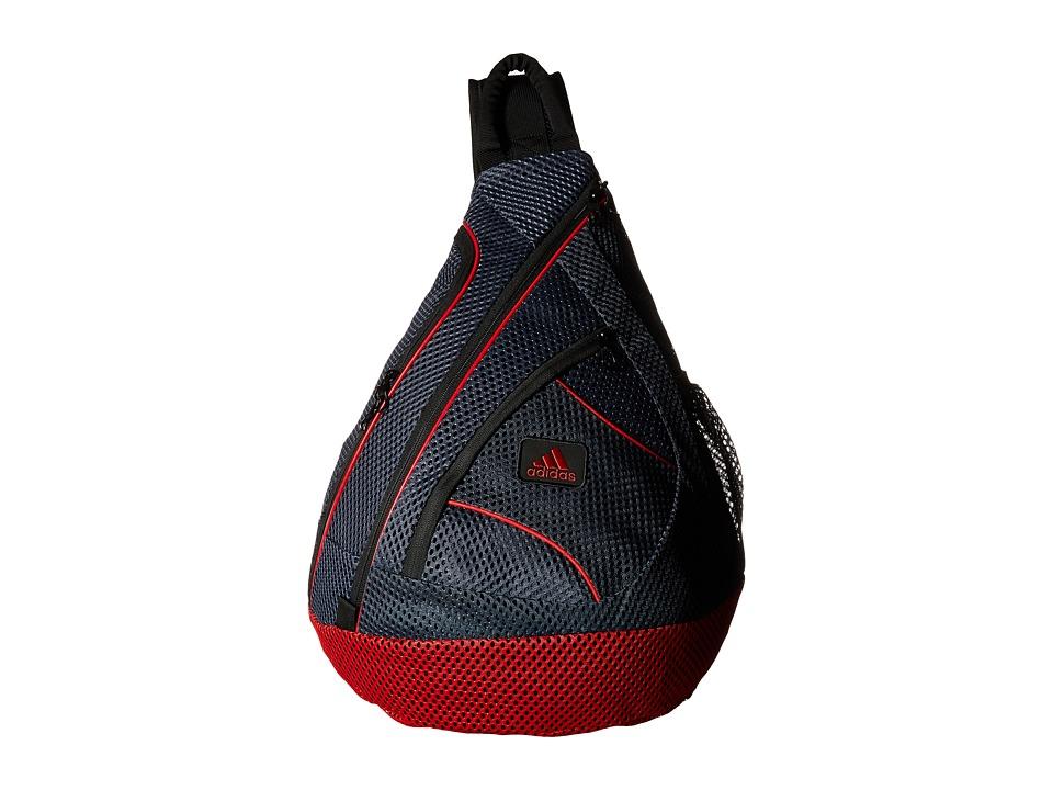 adidas - Vista Mesh Sling (Grey/Scarlet) Sling Handbags