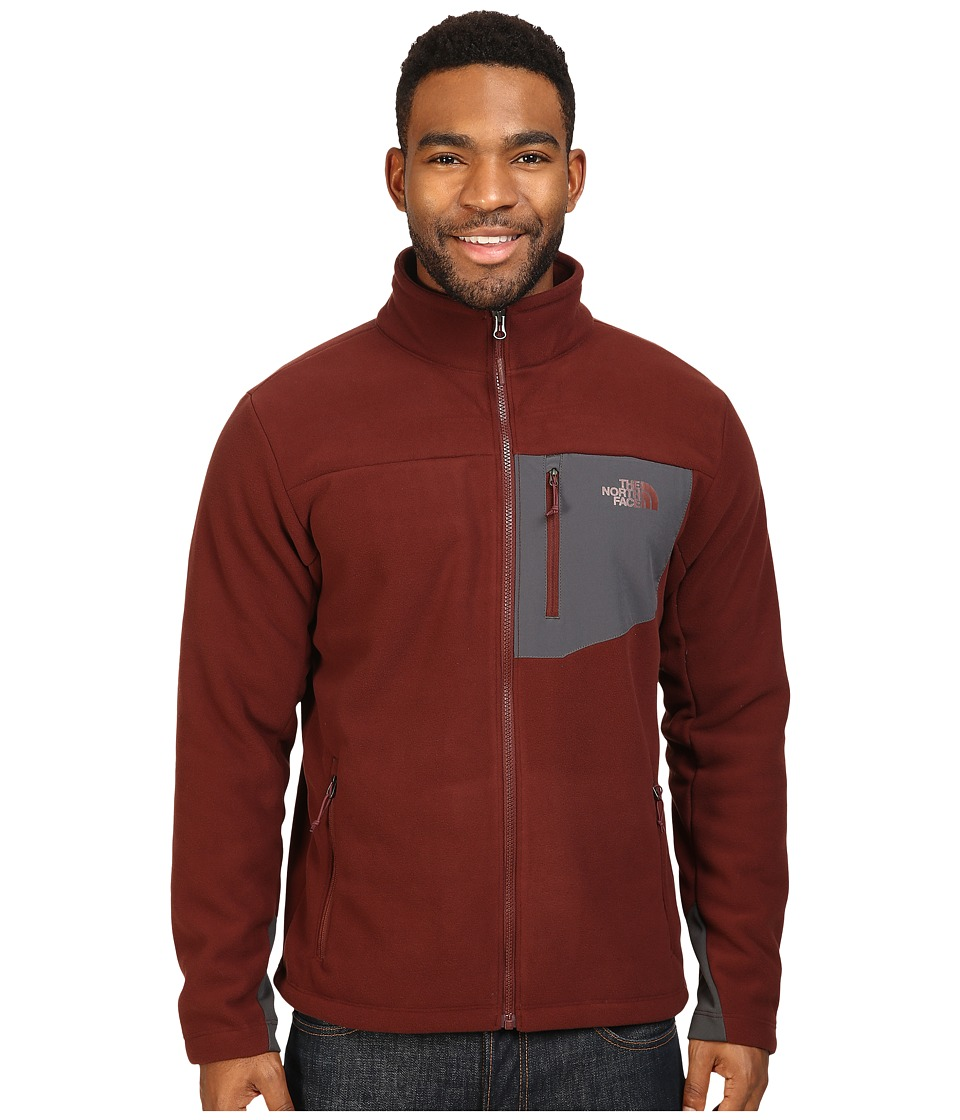The North Face - Chimborazo Full Zip Fleece (Sequoia Red/Asphalt Grey) Men's Coat