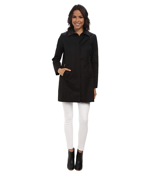 Cole Haan - 34 Single Breasted Topper Coat (Black) Women's Coat