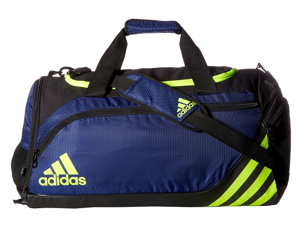 adidas - Team Speed Medium Duffel (Midnight Indigo/Solar Yellow/Bold Blue) Duffel Bags