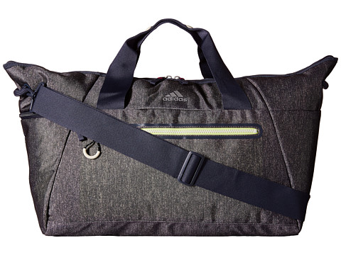 adidas - Studio Duffel (Heather Granite Clear Grey/Ngiht Flash/Frozen Yellow) Duffel Bags