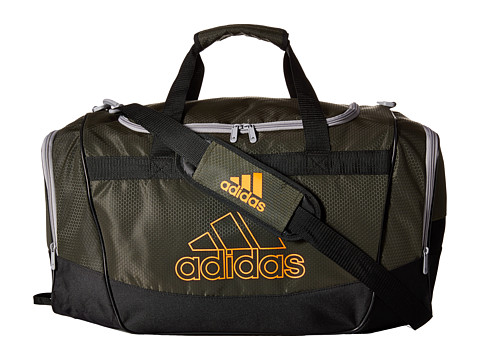 adidas - Defender II Medium Duffel (Night Cargo/Solar Orange/Light Onix) Duffel Bags