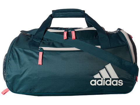 adidas - Squad II Duffel (Veridian/Chalk White/Light Flash Red) Duffel Bags