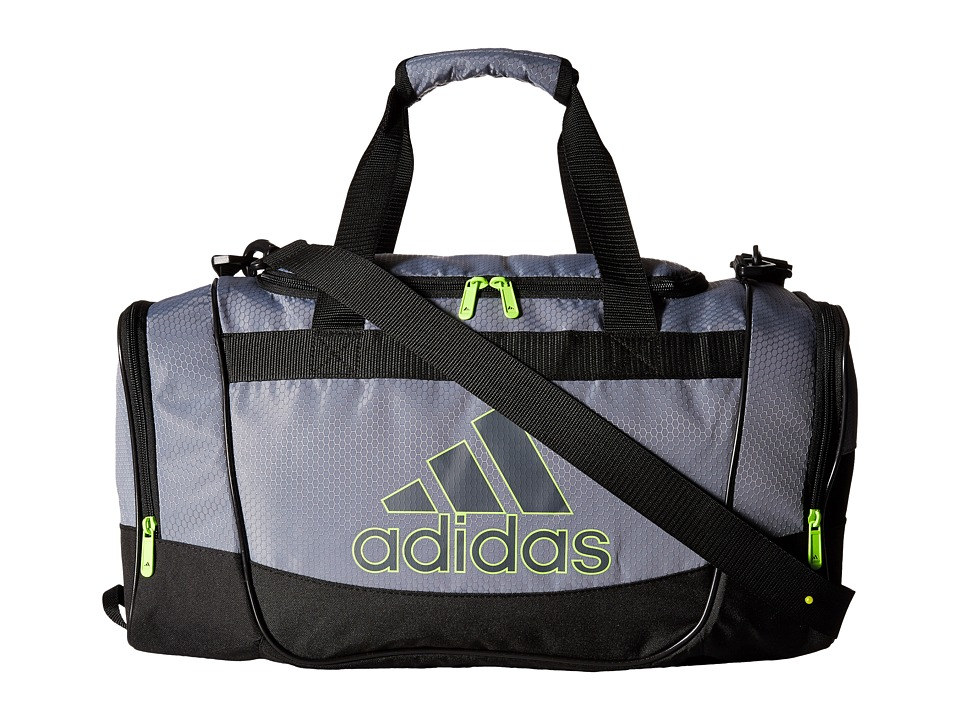 adidas - Defender II Small Duffel (Grey/Onix/Clear Onix/ Solar Yellow) Duffel Bags