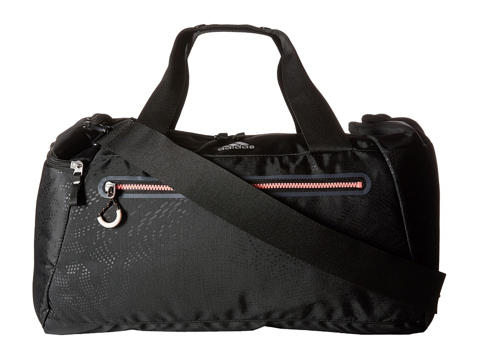 adidas - Studio Duffel (Poison Ivy Emboss/Black/Light Flash Red) Duffel Bags