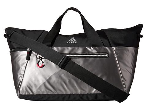adidas - Studio Duffel (Iron Met/Black/Bold Pink) Duffel Bags