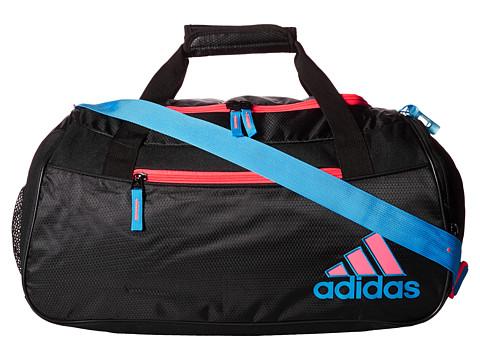 adidas - Squad II Duffel (Black/Solar Blue/Flash Red) Duffel Bags