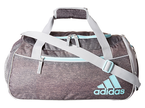 adidas - Squad II Duffel (Heather Granite Clear Grey/Clear Onix/Frozen Blue/Chalk White) Duffel Bags