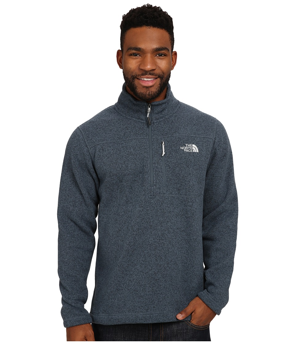 The North Face - Gordon Lyons 1/4 Zip Pullover (Conquer Blue Heather) Men's Long Sleeve Pullover