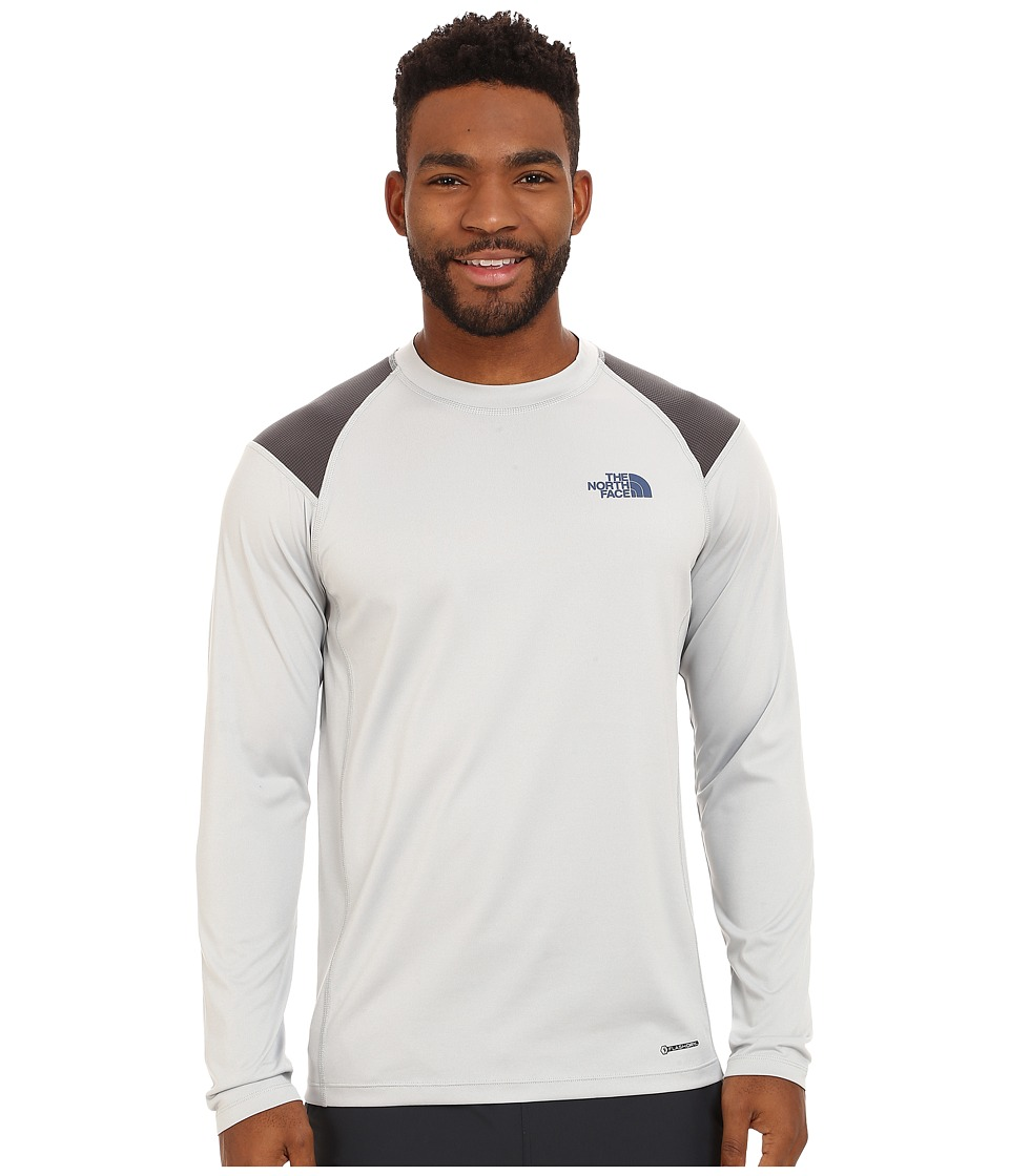 The North Face - Long Sleeve Paramount Tech Tee (High Rise Grey) Men's Long Sleeve Pullover