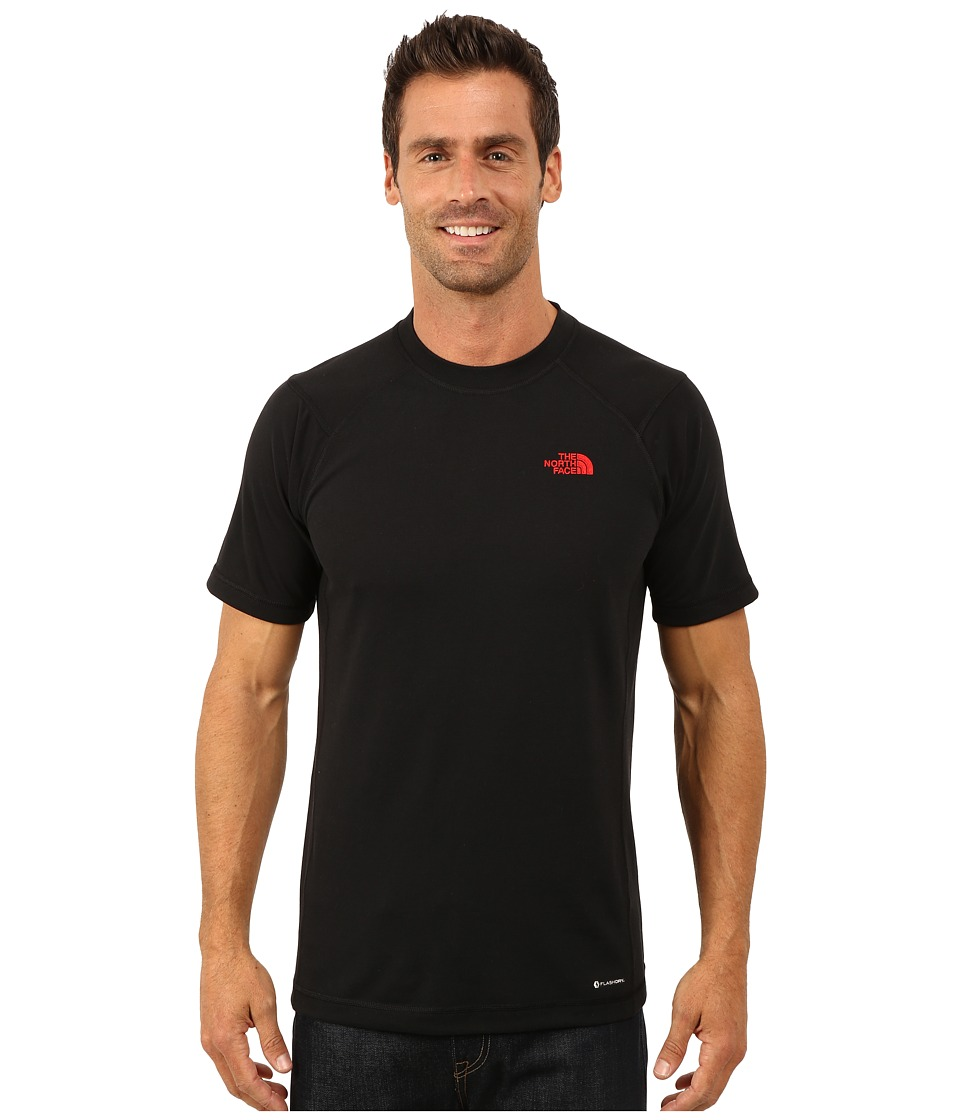 The North Face - Short Sleeve RDT Crew Tee (TNF Black/TNF Red) Men