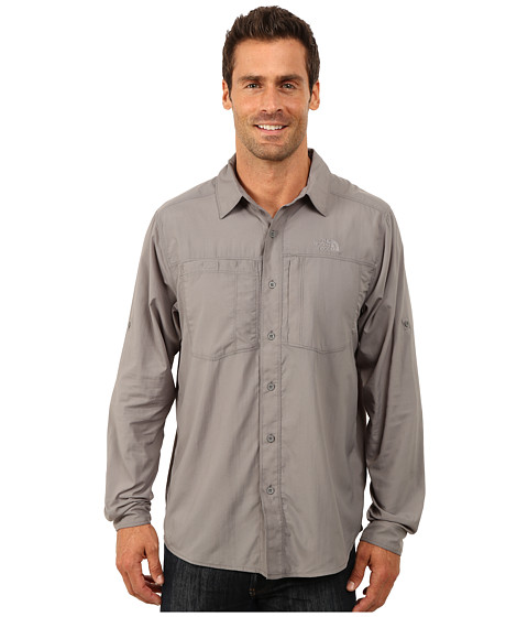The North Face - Long Sleeve Tek Hike Shirt (Zinc Grey) Men