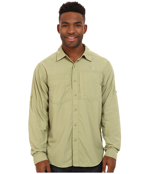The North Face - Long Sleeve Tek Hike Shirt (Sage) Men's Long Sleeve Button Up