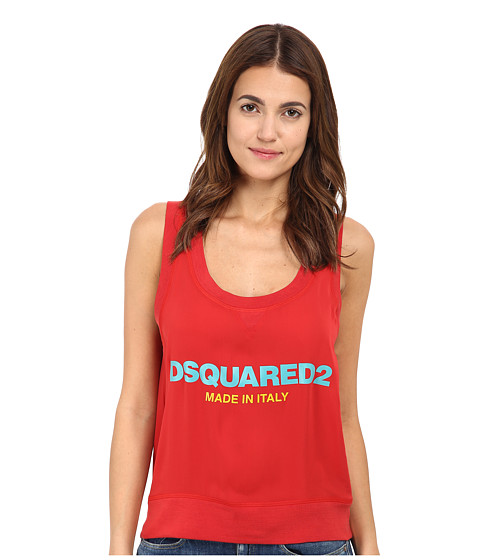 DSQUARED2 - Helen Sleeveless Top (Red) Women's Sleeveless