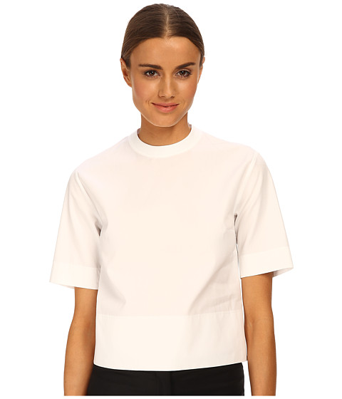 DSQUARED2 - Bridget Midi Top (White) Women's Short Sleeve Pullover