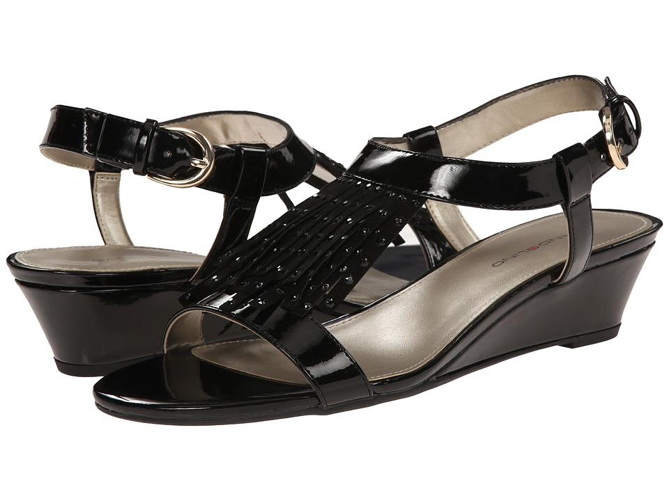 Bandolino - Gissell (Black Synthetic) Women's Wedge Shoes