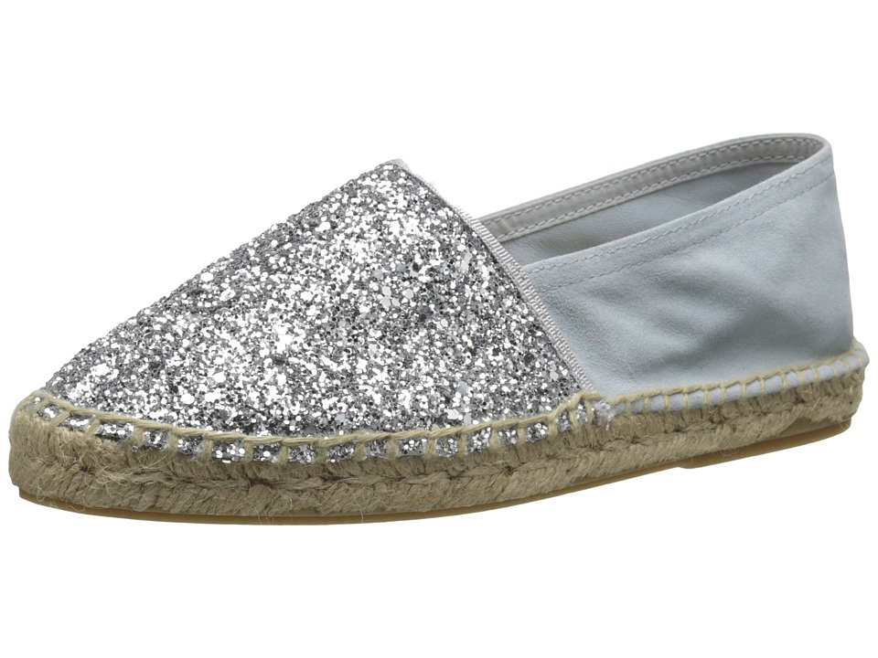 Dune London - Glitter (Silver Glitter) Women's Slip on Shoes