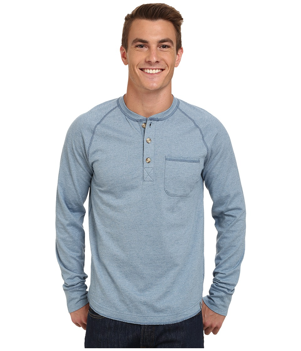 The North Face - Long Sleeve Seward Henley Shirt (Cool Blue) Men's Long Sleeve Pullover