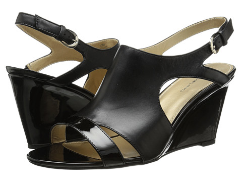 Bandolino - Tadaa (Black Leather) Women's Wedge Shoes