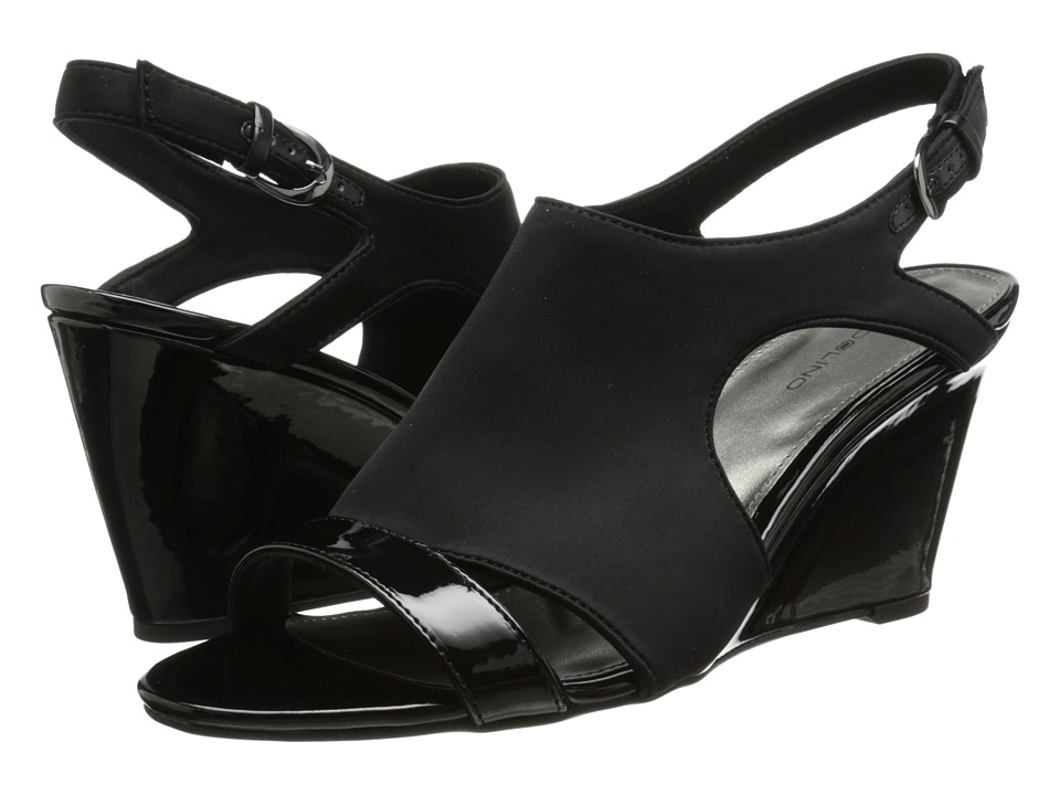 Bandolino - Tadaa (Black Fabric) Women's Wedge Shoes