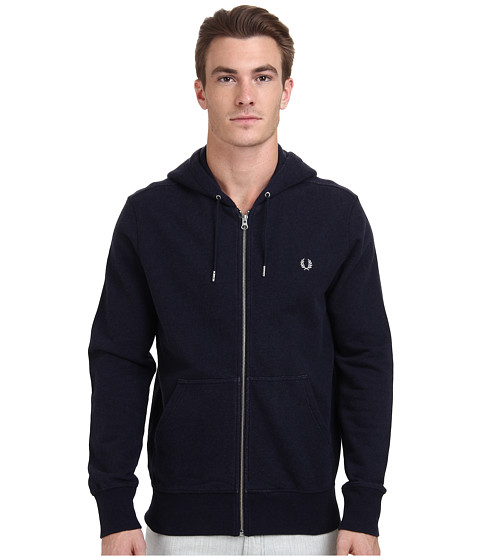 Fred Perry - Loopback Hooded Sweat (Navy Marl) Men's Sweatshirt